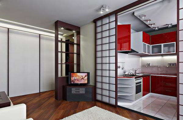 гостиная совмещенная с кухней дизайн фото 11
