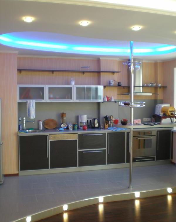 гостиная совмещенная с кухней дизайн фото 12