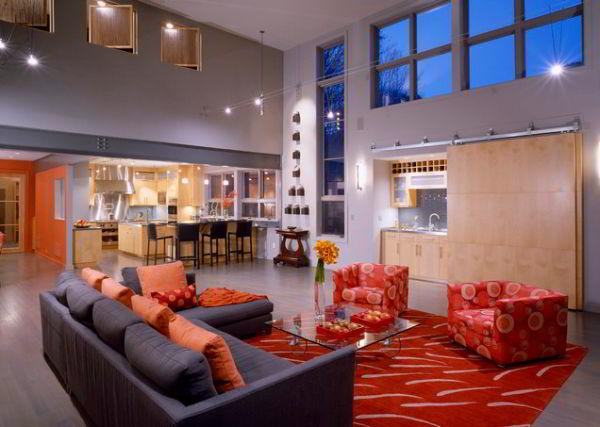 гостиная совмещенная с кухней дизайн фото 4