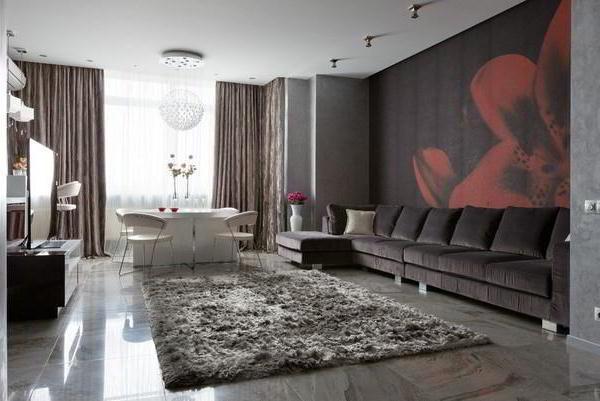 идеи комбинирования обоев в гостиной фото 5