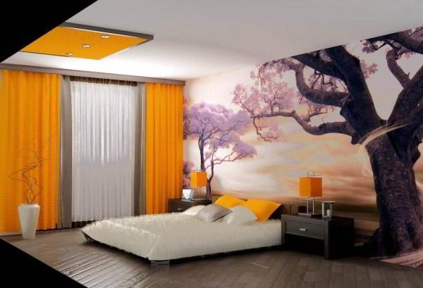 спальня с фотообоями фото 8