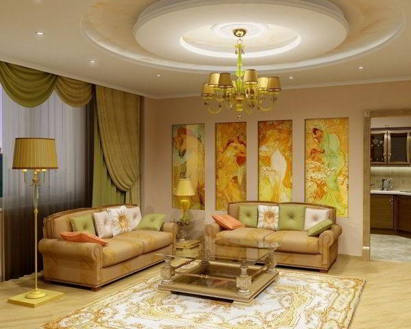 интерьер зала в квартире фото 11