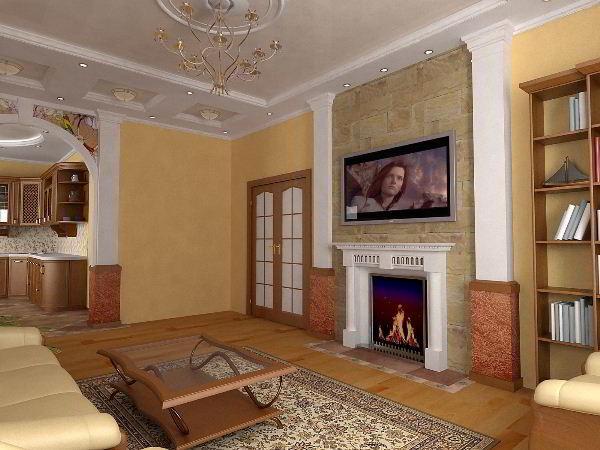 интерьер зала в квартире фото 12