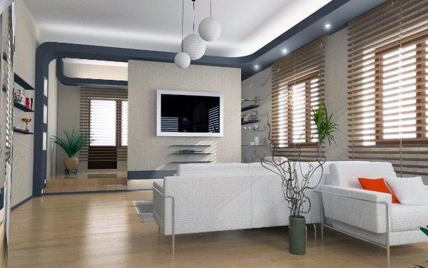 интерьер зала в квартире фото 13