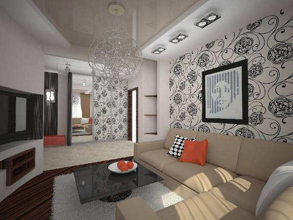 интерьер зала в квартире фото 15