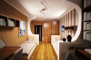 комбинирование обоев в гостиной фото 57