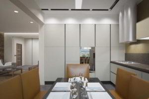 кухня и гостиная вместе фото 12