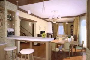 кухня и гостиная вместе фото 17