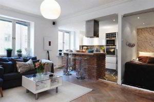 кухня и гостиная вместе фото 33