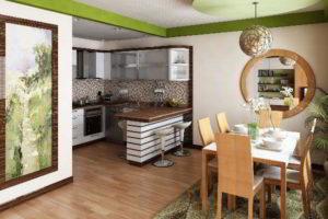кухня и гостиная вместе фото 46