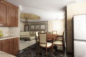 кухня и гостиная вместе фото 5