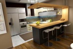кухня и гостиная вместе фото 6