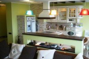 кухня и гостиная вместе фото 9