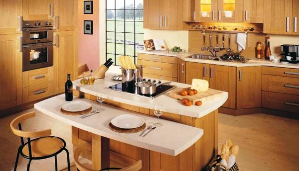кухня с островом фото 3