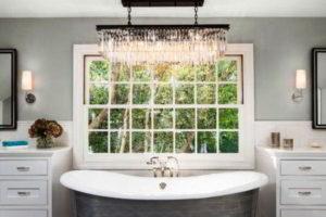 люстра в ванной фото 26