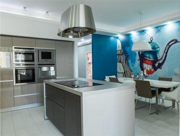 оформление стен на кухне фото 12