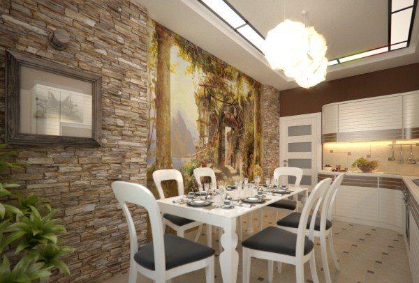 оформление стен на кухне фото 4