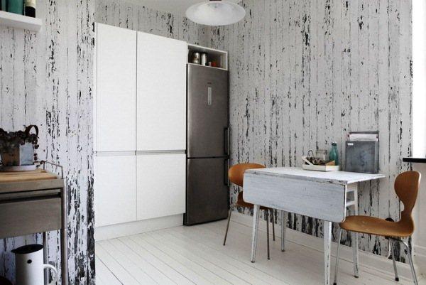 оформление стен на кухне фото