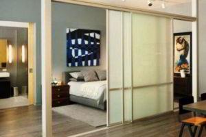 Перегородки для зонирования пространства в комнате: материалы, виды, способы оформления
