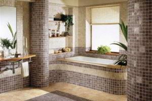 Плитка-мозаика для ванной комнаты