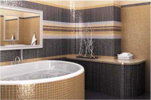 плитка мозаика для ванной комнаты дизайн фото