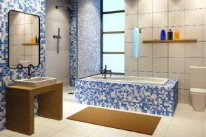 плитка мозаика для ванной комнаты дизайн фото 45
