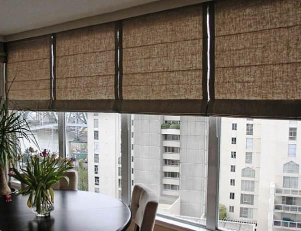 римские шторы на кухню фото 15
