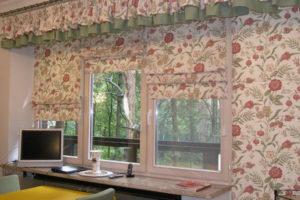 римские шторы на кухню фото 19