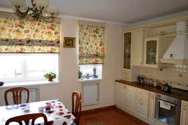 римские шторы на кухню фото 2