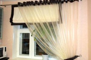 римские шторы на кухню фото 33