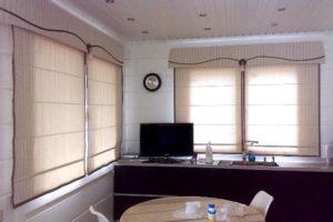 римские шторы на кухню фото 35