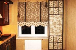 римские шторы на кухню фото 41