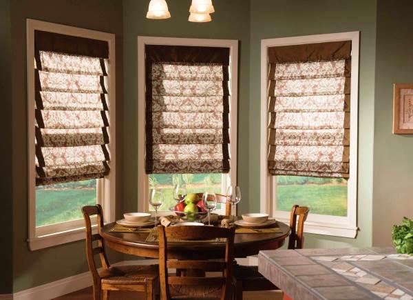 римские шторы на кухню фото 5
