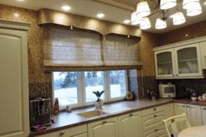 римские шторы на кухню фото 56