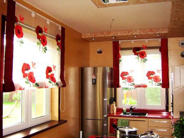 римские шторы на кухню фото 8