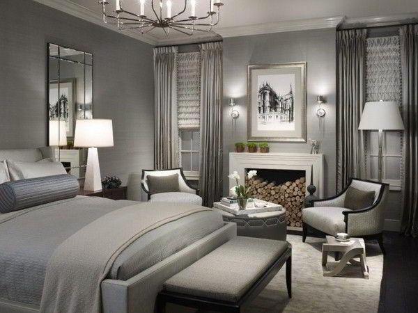 спальня в серых тонах фото 5