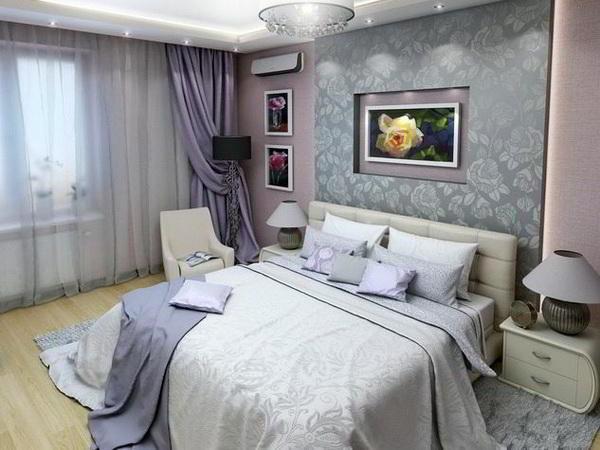 спальня в серых тонах фото 7