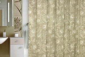 шторки в ванную фото 29