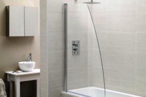 шторки в ванную фото 32