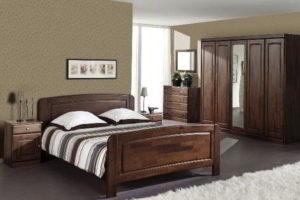 спальня из дерева фото 34