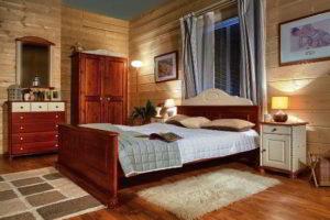 спальня из дерева фото 36