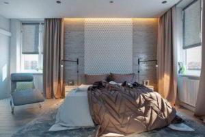 серая спальня фото 8