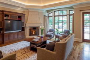 угловые камины в интерьере гостиной фото 10