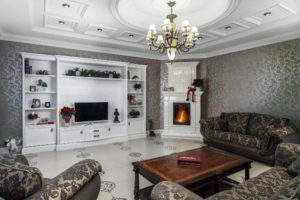 угловые камины в интерьере гостиной фото 11