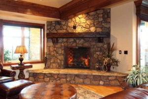 угловые камины в интерьере гостиной фото 29