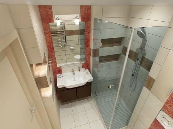 ванная 3 кв. м фото 13