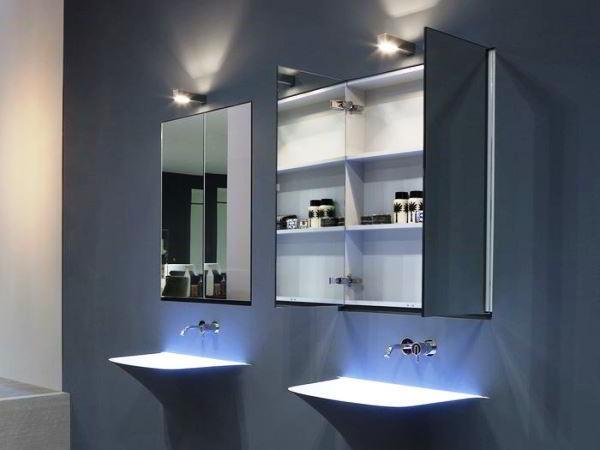 зеркальный шкаф для ванной фото 2