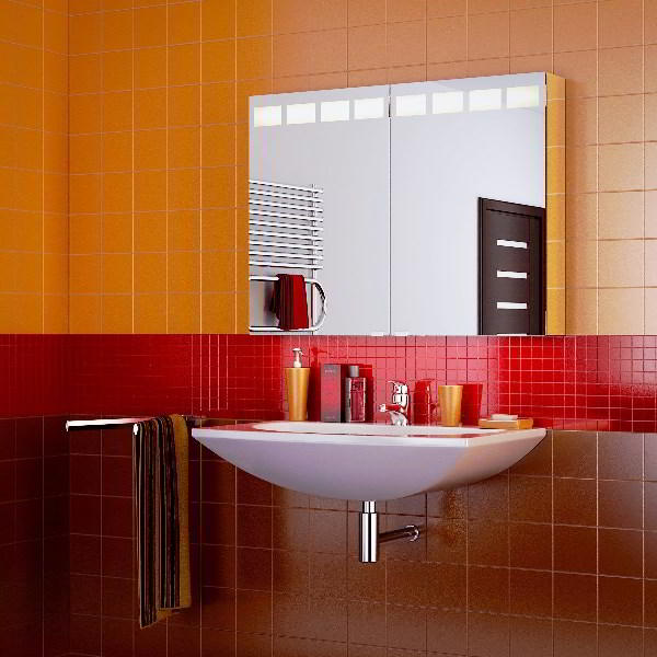 зеркальный шкаф для ванной фото 3