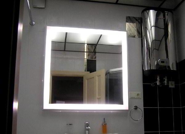 зеркало в ванную комнату с подсветкой фото 6
