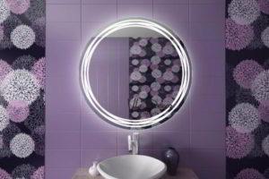 зеркало в ванную комнату с подсветкой фото 13
